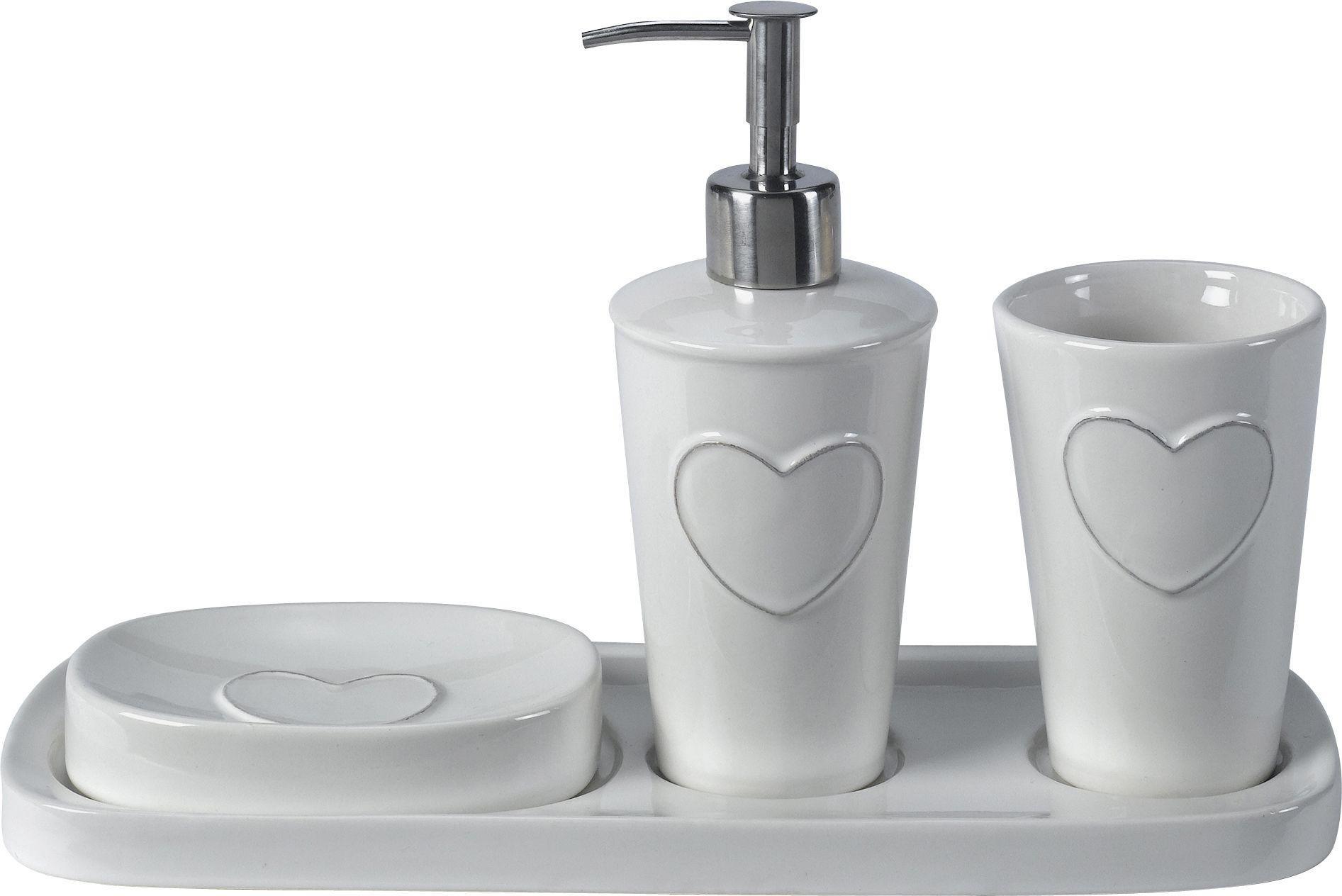 Amazing Heart Of House 3 Piece Ceramic Heart Bathroom Set
