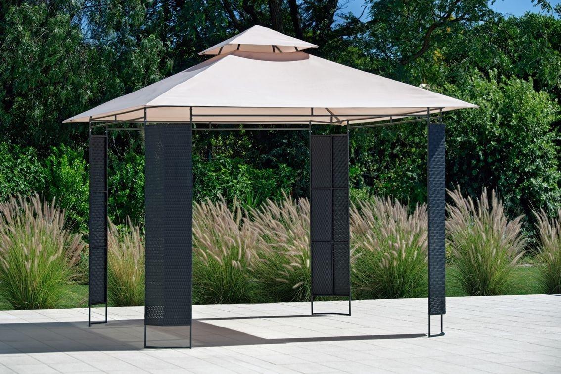 Garden Furniture Gazebo buy collection rattan effect square garden gazebo at argos.co.uk