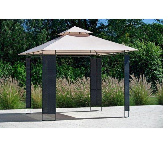 Buy Collection Rattan Effect Square Garden Gazebo At Argos Co Uk