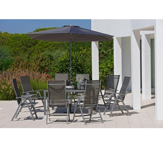 Garden Furniture 8 Seater Buy collection malibu 8 seater metal patio set garden table and collection malibu 8 seater metal patio set workwithnaturefo