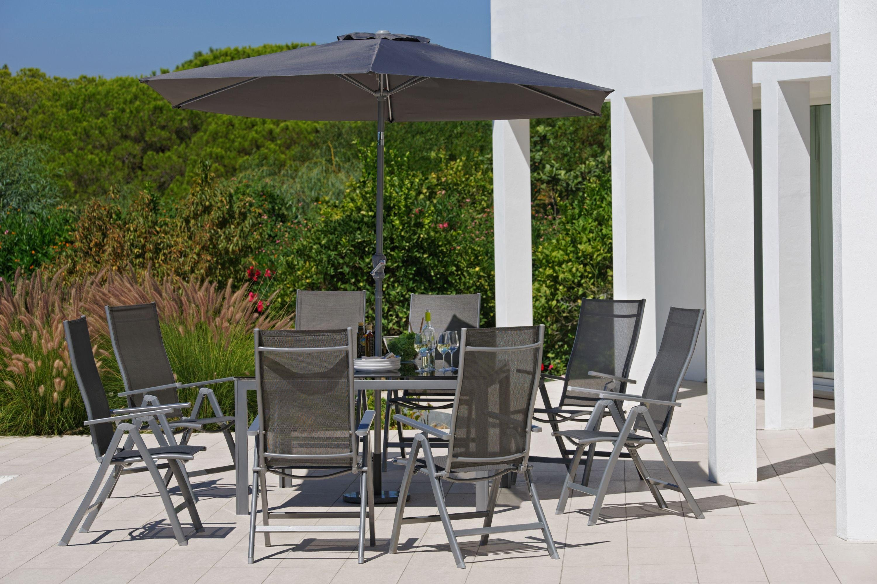 Garden Furniture 8 Seater Patio Set buy collection malibu 8 seater steel patio set at argos.co.uk