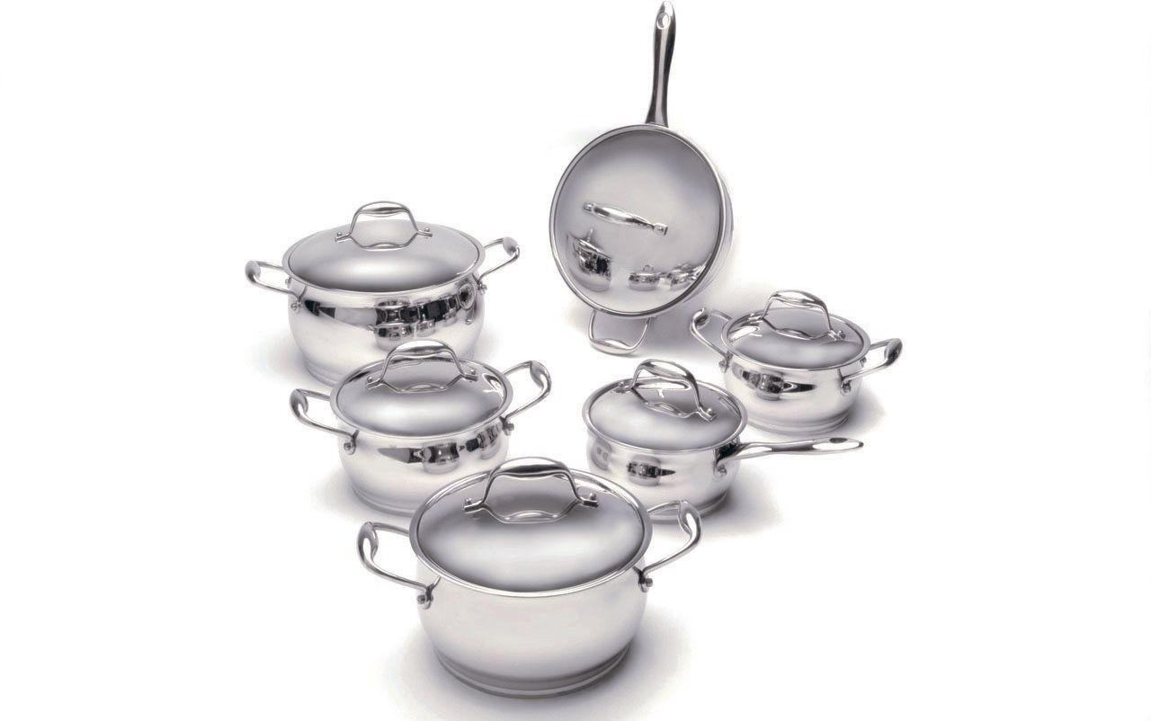 Image of BergHOFF Zeno 6 Piece Stainless Steel Cookware Set