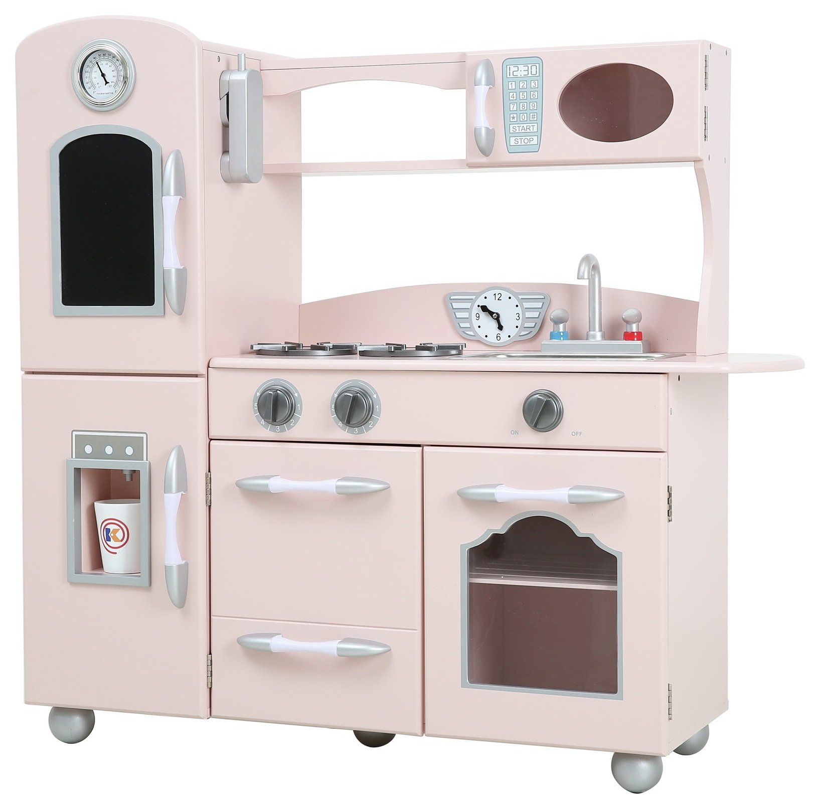 Teamson Classic Country Living 1 Piece Kitchen - Pink.