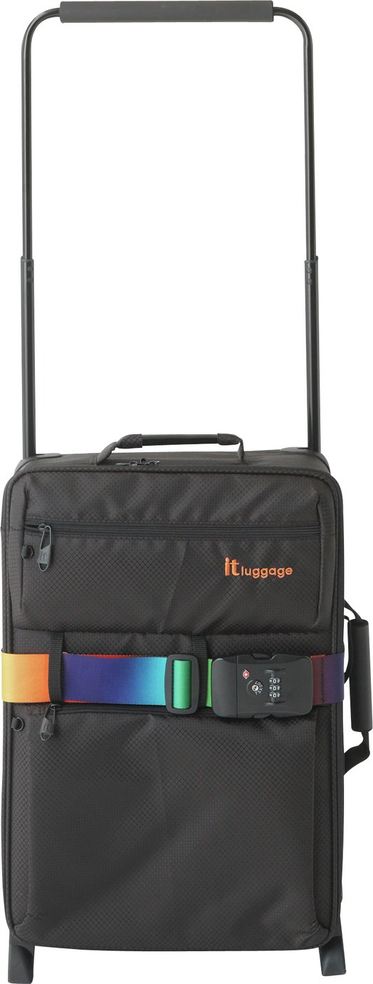 Buy IT Luggage World's Lightest Small 2 Wheel Suitcase - Black at ...