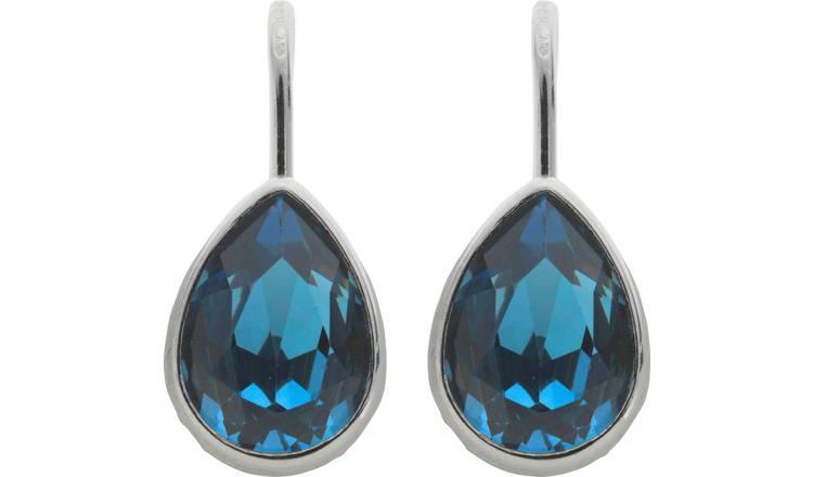 679a21192 Buy Revere Sterling Silver Swarovski Crystal Drop Earrings | Womens ...