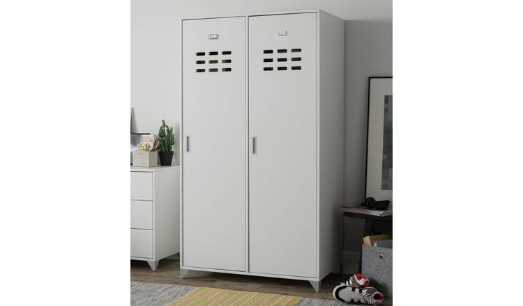 Argos Home Loft Locker 2 Door Wardrobe - White