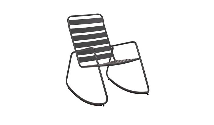 Argos Home Steel Rocking Chair - Charcoal 0