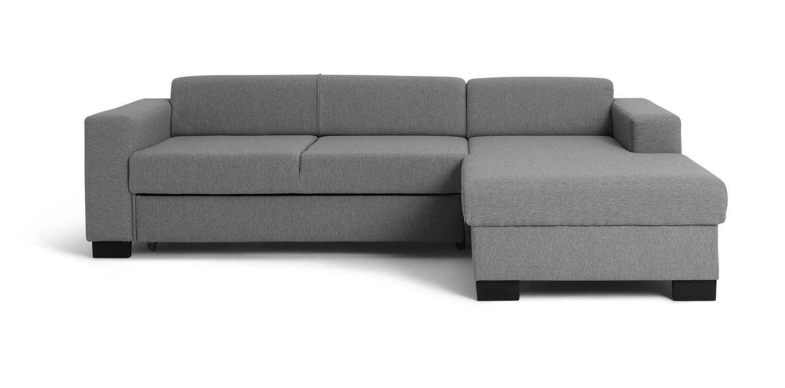 Argos Home Ava Corner Fabric Sofa Bed - Light Grey