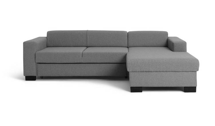 Habitat Ava Corner Fabric Sofa Bed - Light Grey