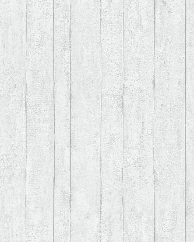 Contour White Plank Wallpaper