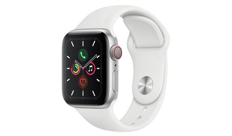 Apple Watch S5 Cellular 40mm Silver Alu/ White Band