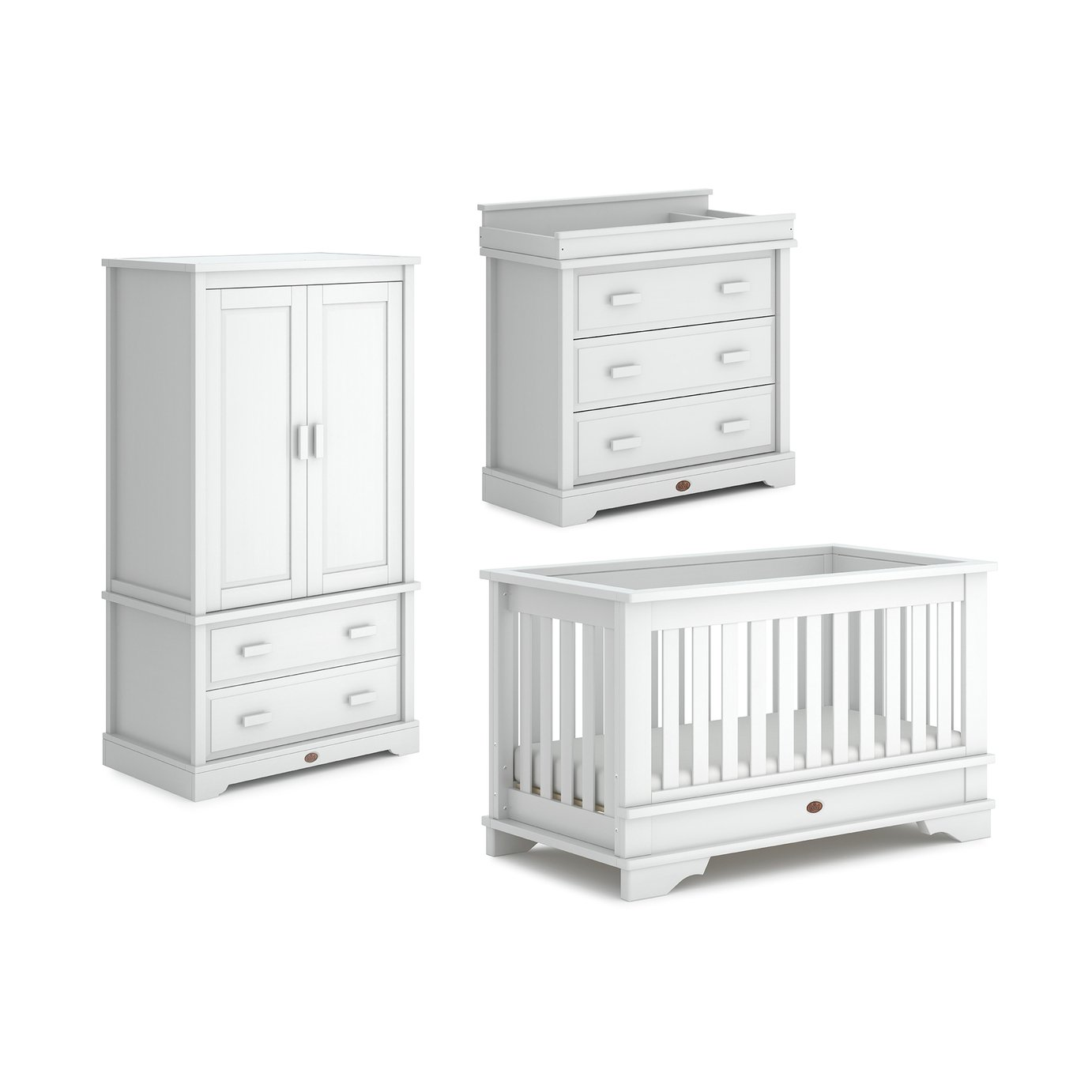 Boori Eton Convertible Plus 3 Piece Set - White