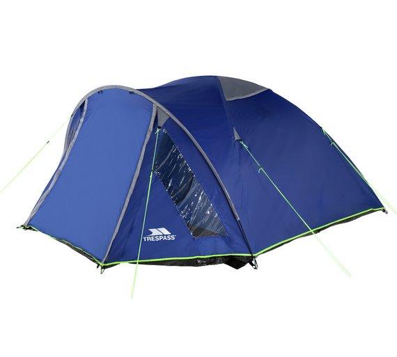 buy trespass 4 man 1 room dome tent tents argos