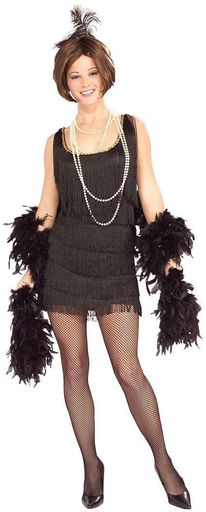 Image of 1920's Black Flapper Costume - Size 16-18.