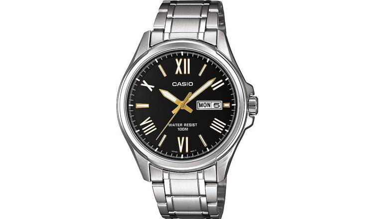 Casio Men's Silver Stainless Steel Bracelet Watch