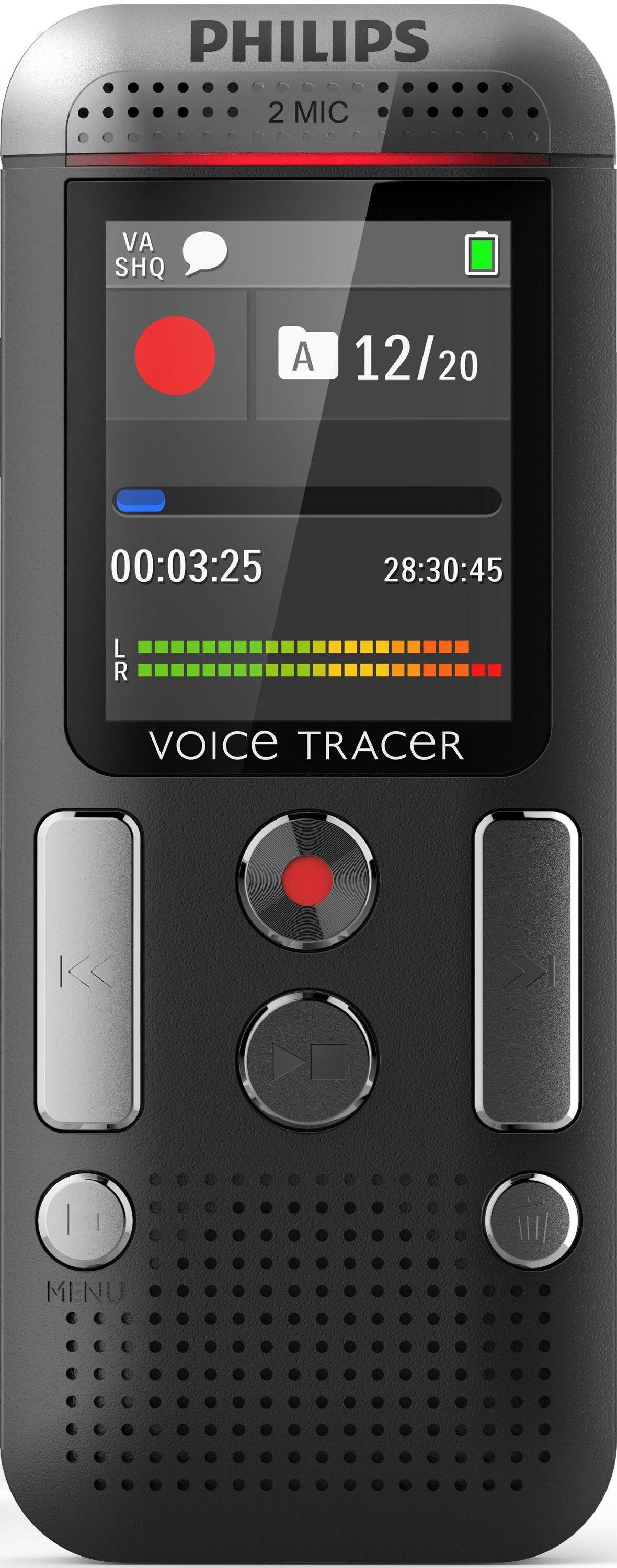Philips dvt2700 digital voice recorder with speech to text