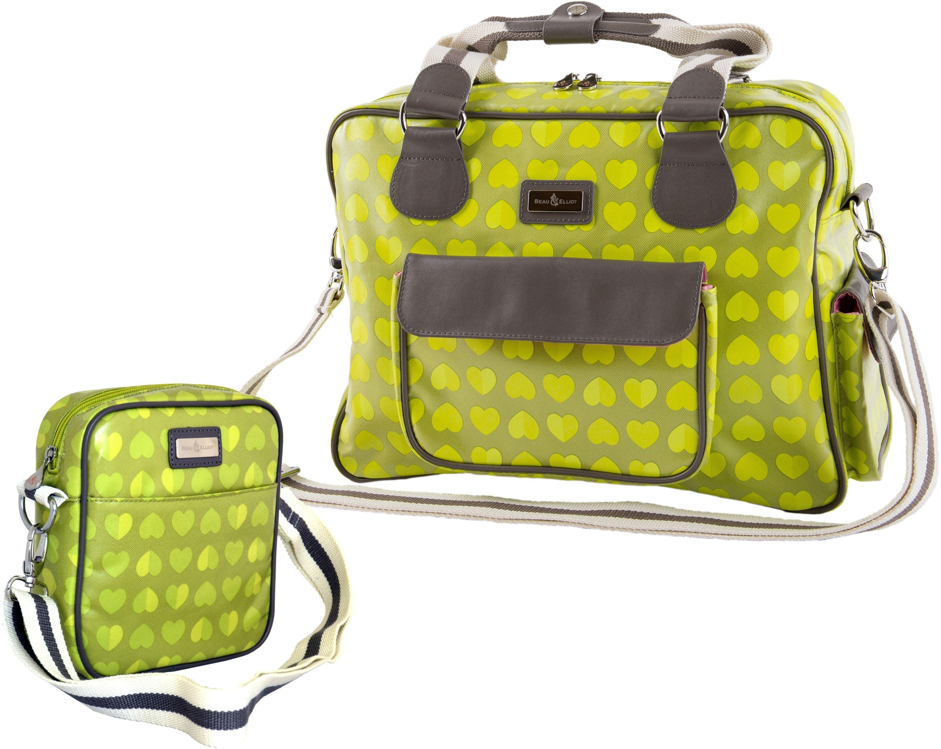 Image of Beau and Elliot Confetti Change Bag and Bottle Bag - Lime.