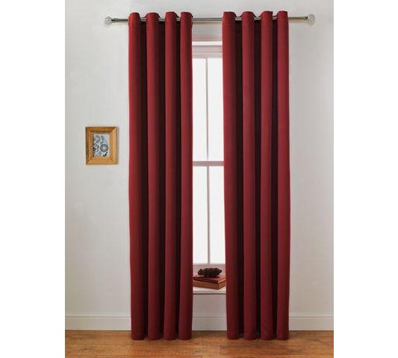 Buy Collection Twilight Blackout Unlined Curtain-117x183cm-Berry ...