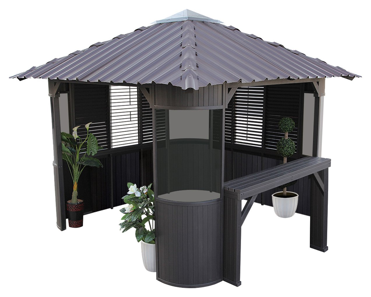 Image of Canadian Spa Frazer Synthetic Hot Tub Gazebo Enclosure