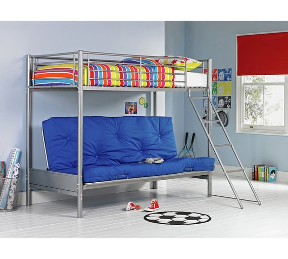 Buy Argos Home Metal Futon Bunk Bed With Kids Mattress Blue Kids