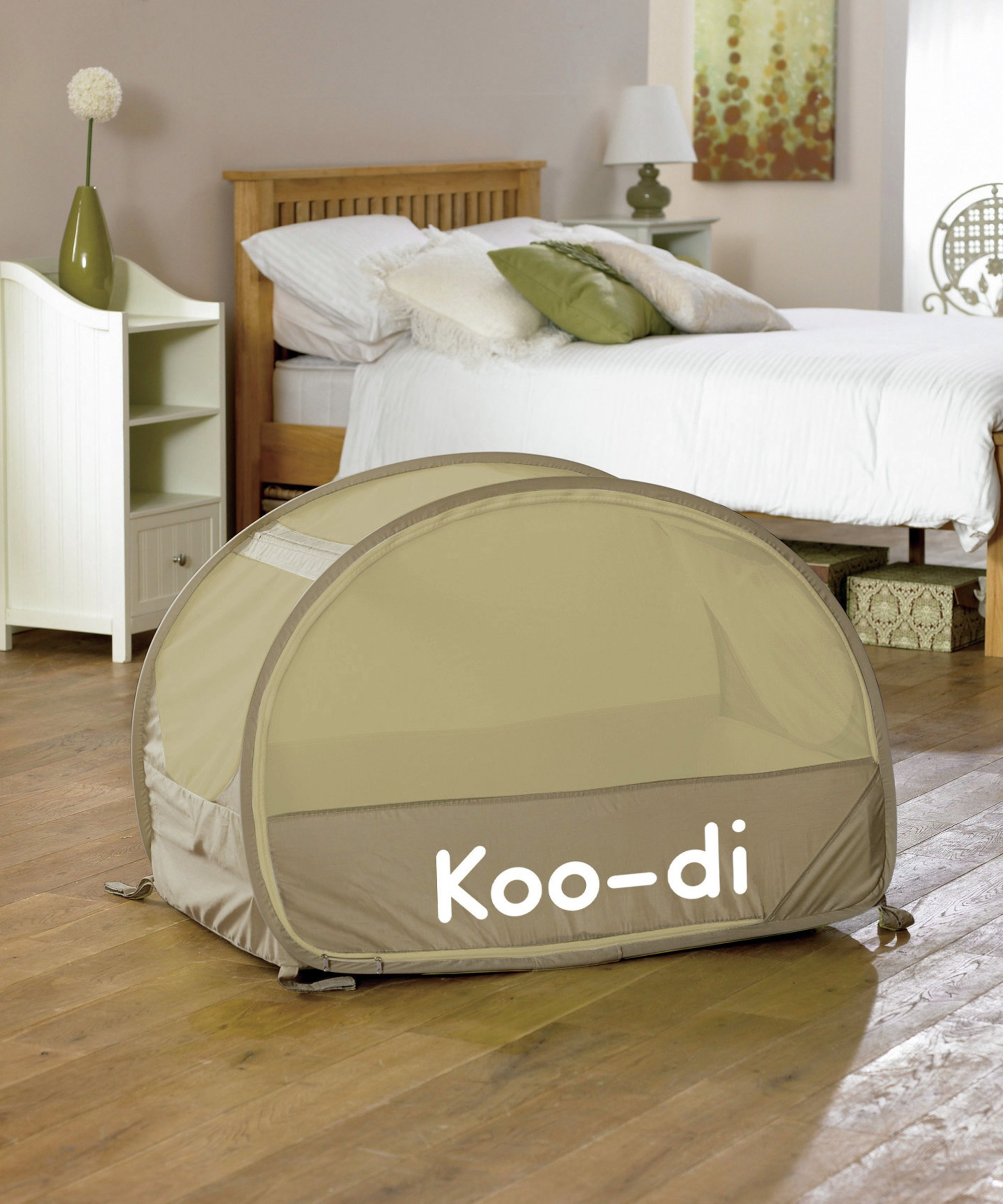 Image of Koo-di - Pop Up Bubble - Travel - Cot - Caf? Cr?me