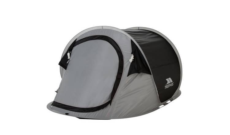 Blue//Camouflage//Grey//Purple Trespass 2 Man Festival Pop Up Tent