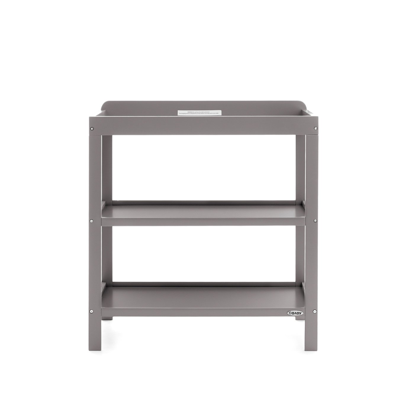 obaby open changing unit  taupe grey.