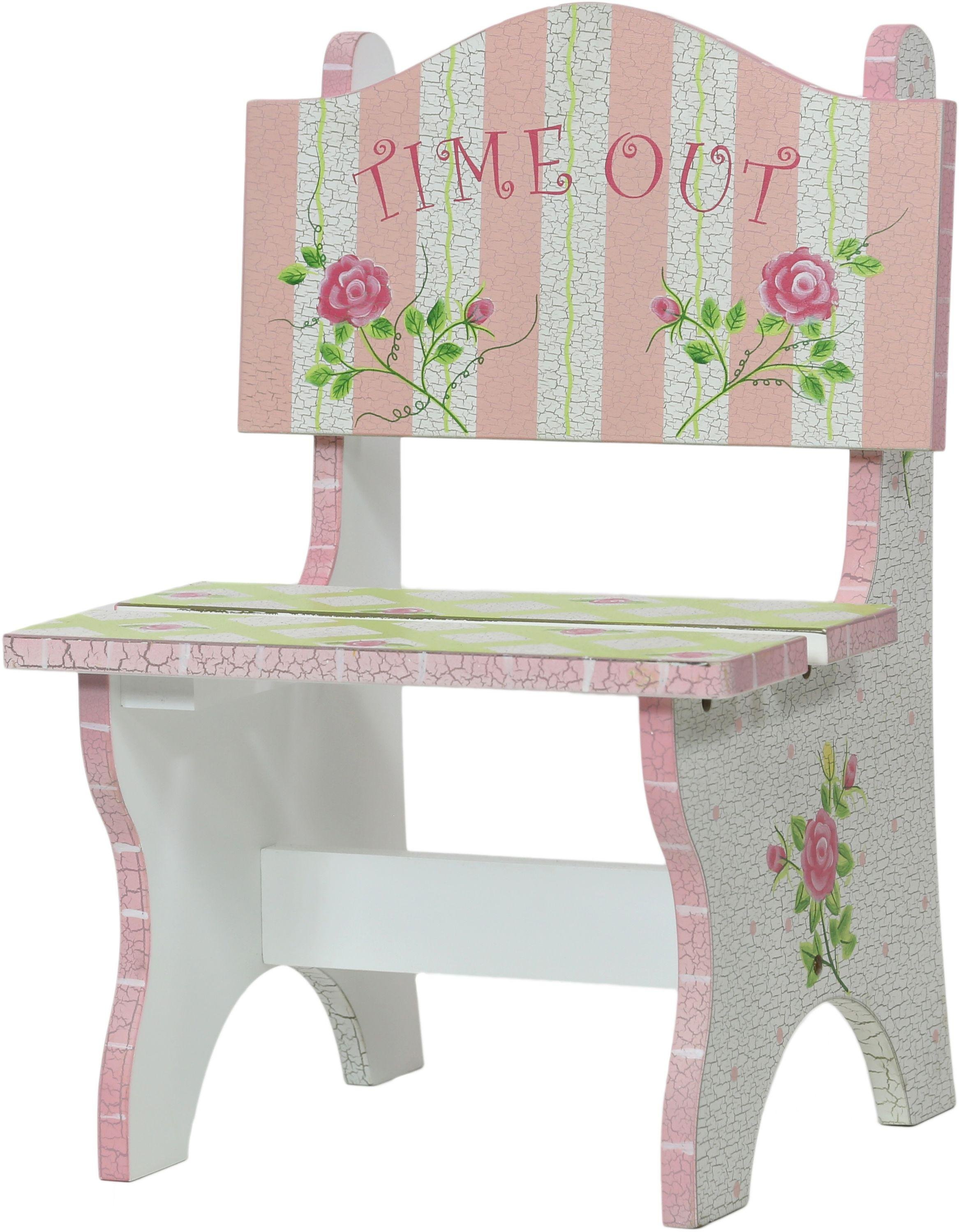 Image of Fantasy Fields Crackled Rose Time Out Chair.