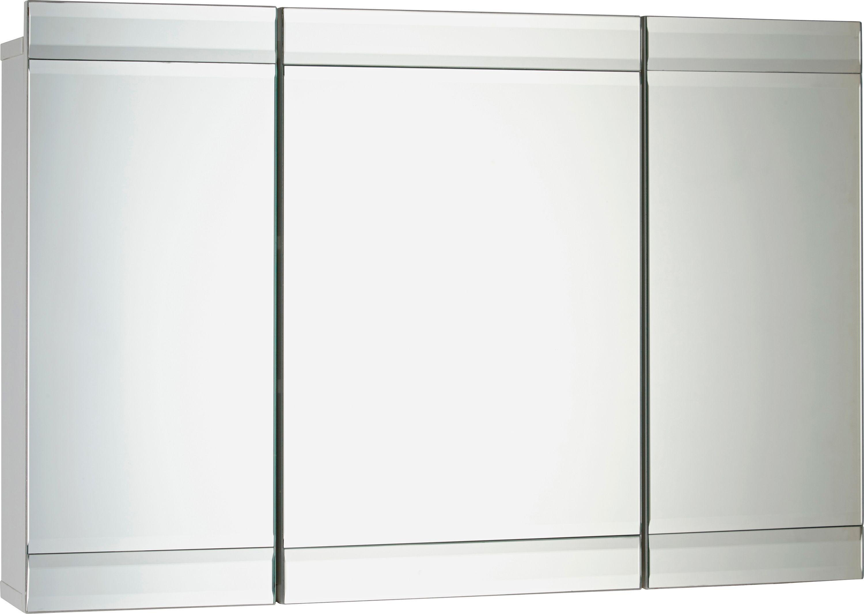 Mirrored Wall Cabinet argos triple mirrored bathroom cabinet | bar cabinet