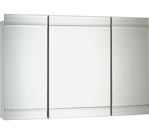 buy heart of house triple mirrored wall cabinet white at