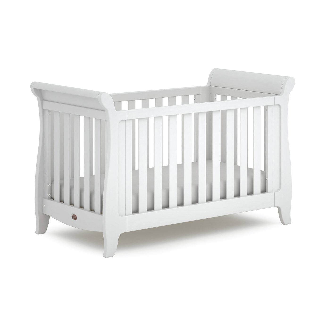 Boori Sleigh Expandable Cot Bed - White