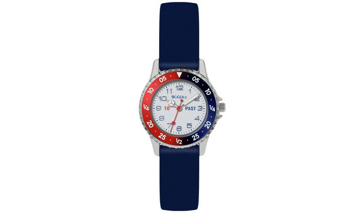 Tikkers Kid's Blue Silicone Strap Watch