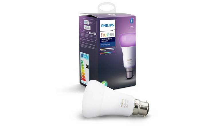Philips Hue B22 Colour Ambiance Smart Single Lamp
