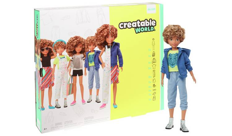 Creatable World Deluxe Character Kit - Blonde Curly Hair