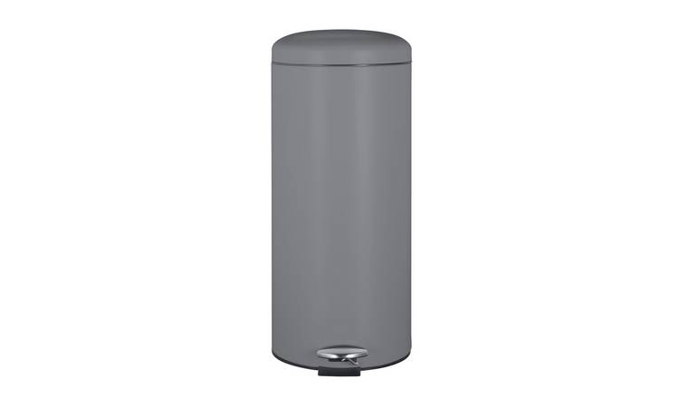 Argos Home 30 Litre Round Kitchen Pedal Bin - Matt Grey