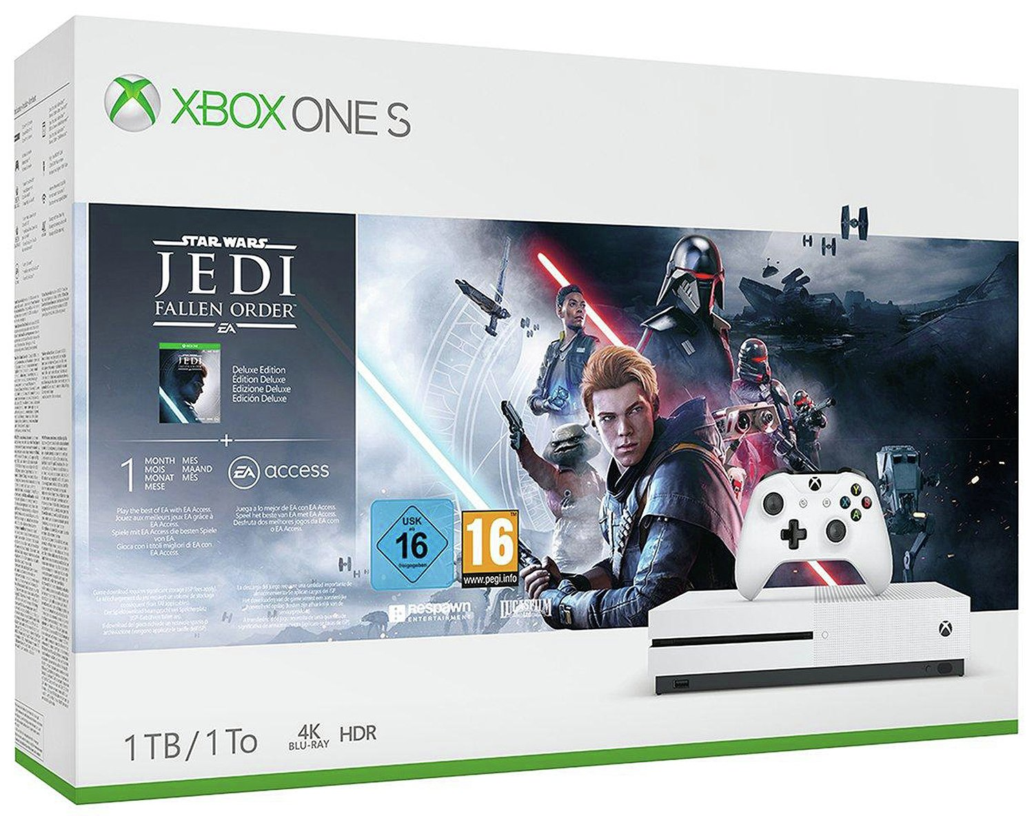 Xbox One S 1TB Console & Star Wars Jedi: Fallen Order Bundle