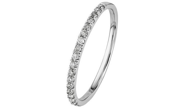 Revere 9ct White Gold 0.15ct tw Diamond Eternity Ring - O