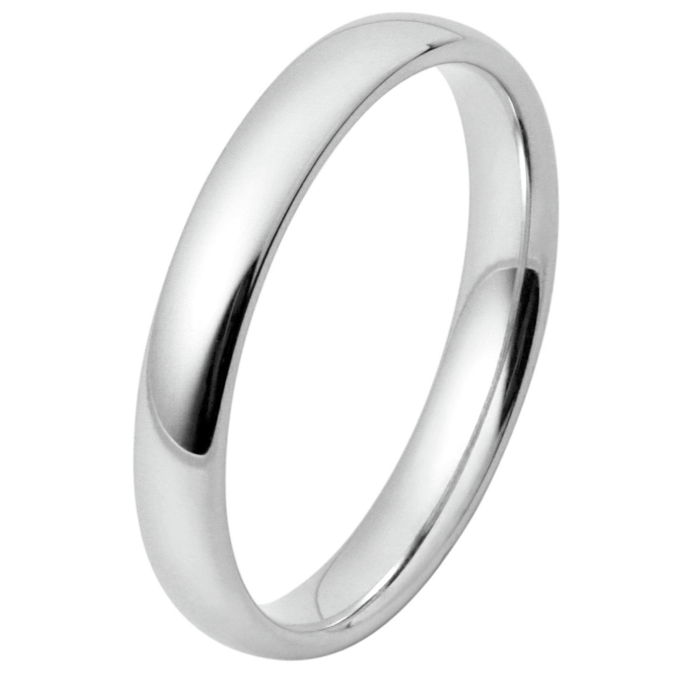 Inara Rhodium Plated Ceramic 3mm Stacking Ring