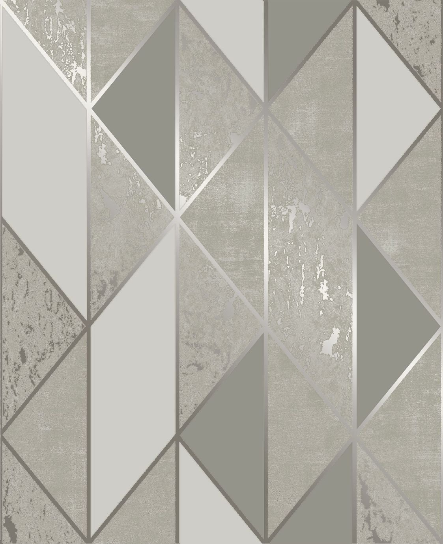 Superfresco Milan Taupe & Gold Geometric Wallpaper