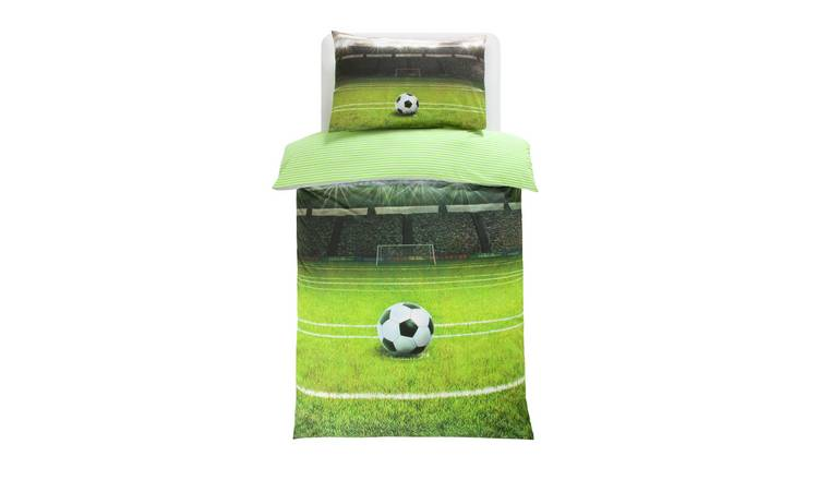 Argos Home Football Pitch Bedding Set - Single