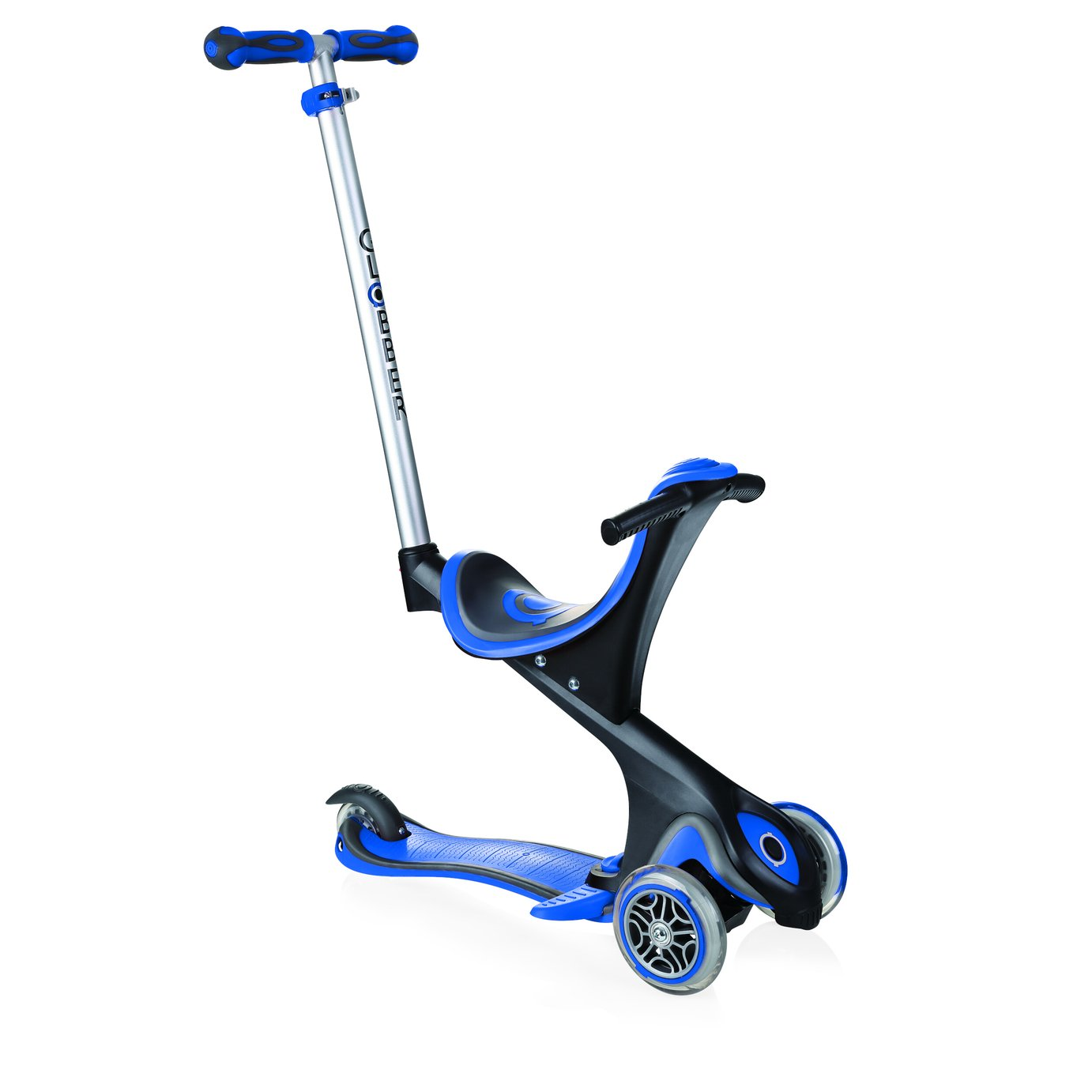 Globber Comfort Folding Scooter - Navy Blue