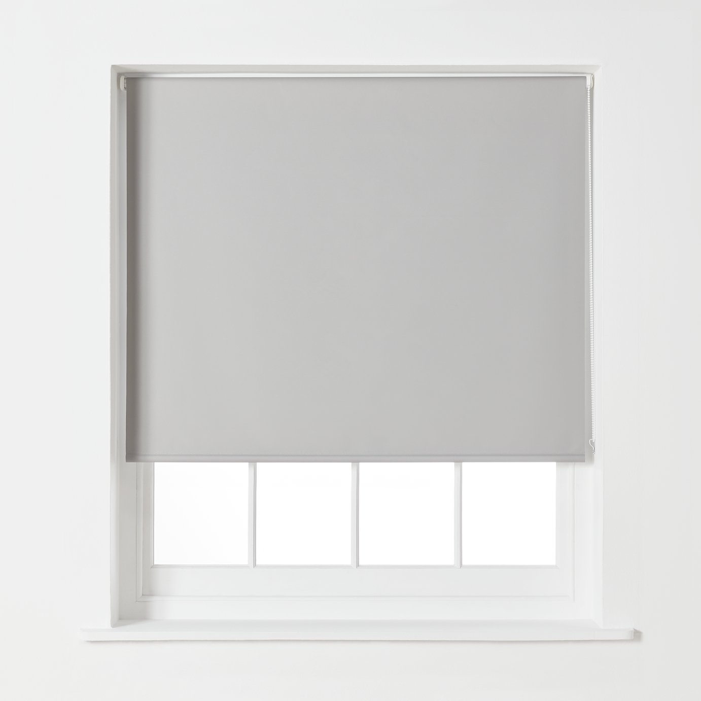 Argos Home Blackout Roller Blind - 4ft - Dove Grey