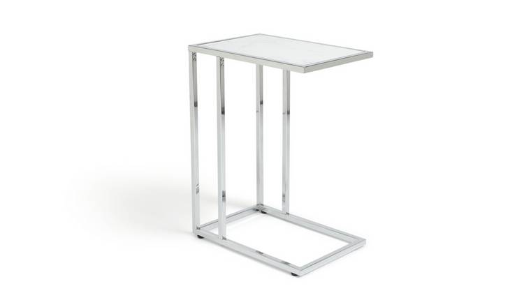 Habitat Boutique C Shaped Table - Marble Effect
