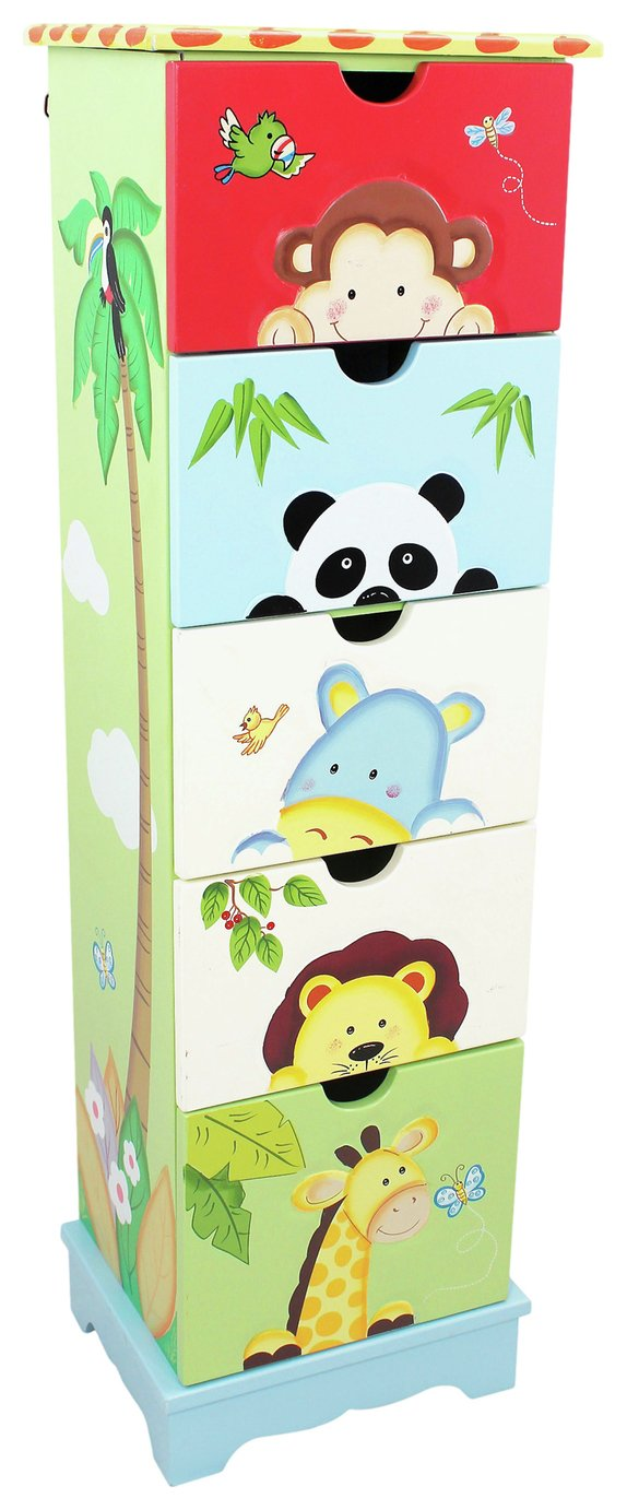 Image of Fantasy Fields Sunny Safari 5 Drawer Cabinet.
