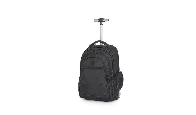 it Luggage 28L Backpack with 2 Wheels - Black