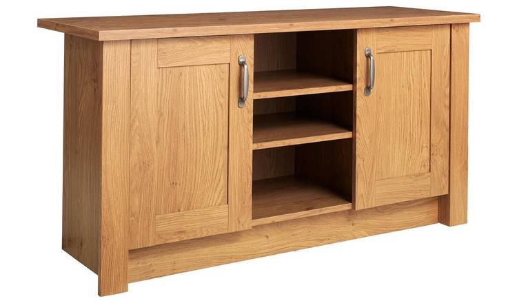 Argos Home Ohio 2 Door Low Sideboard & TV Unit - Oak Effect