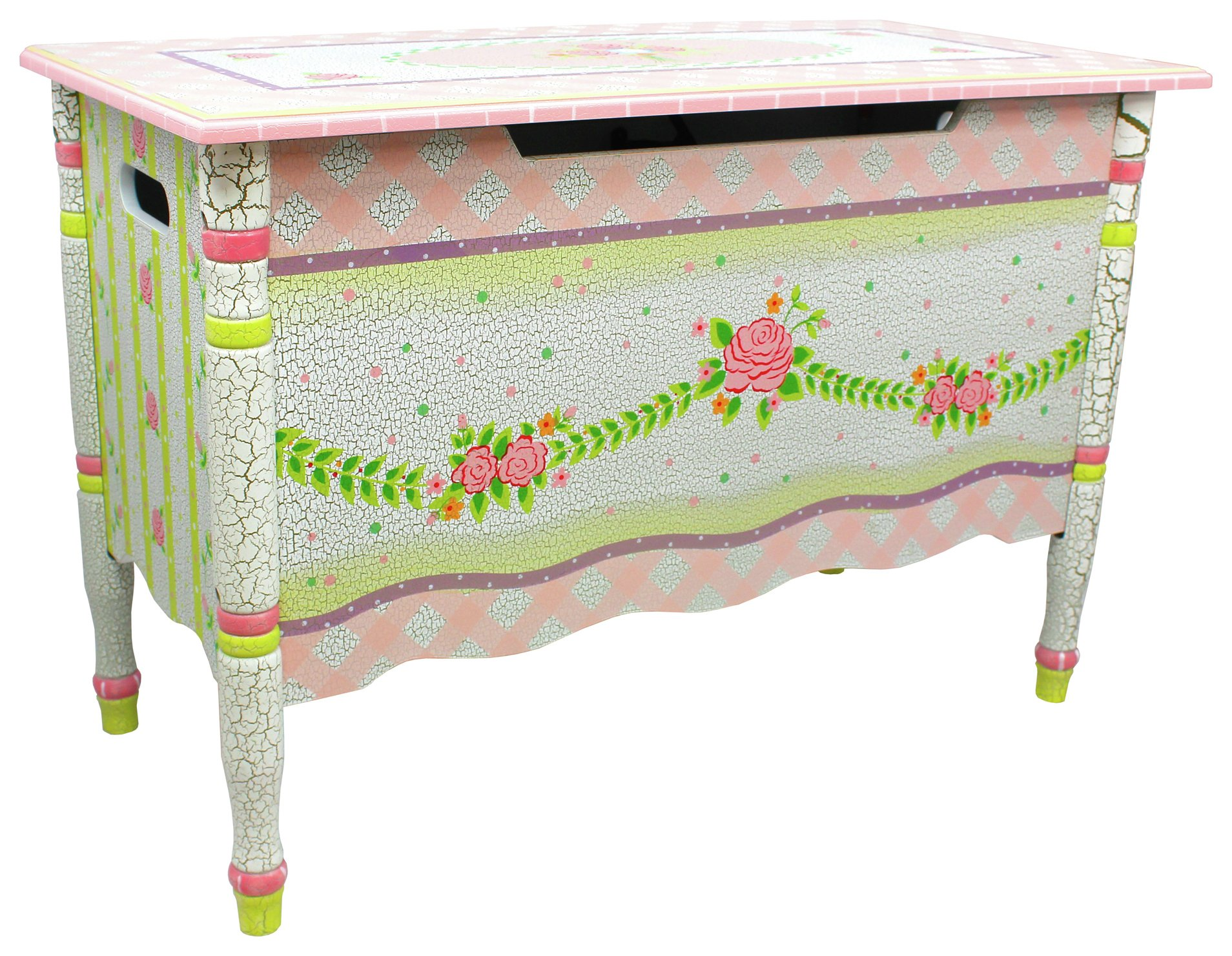 Image of Fantasy Fields Crackled Rose Toy Box.
