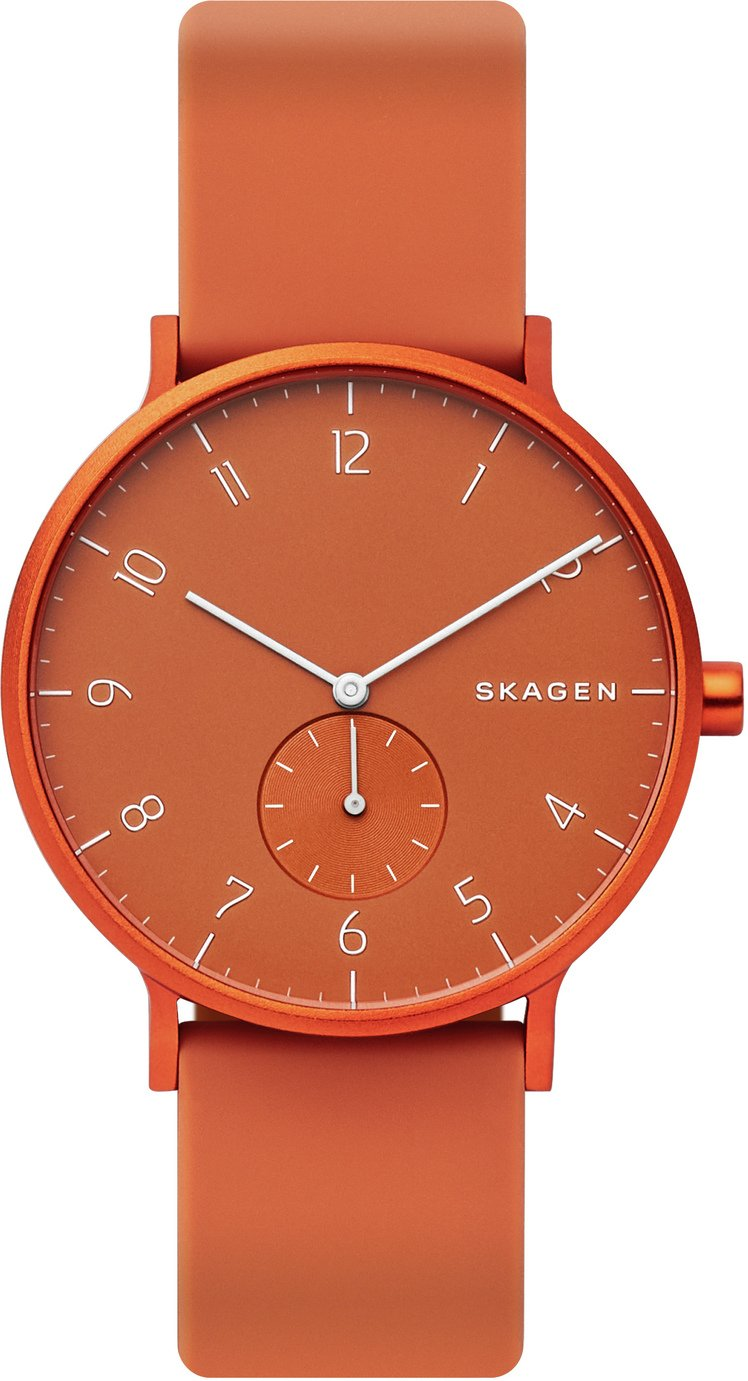 Skagen Kulor Orange Silicone Strap Watch