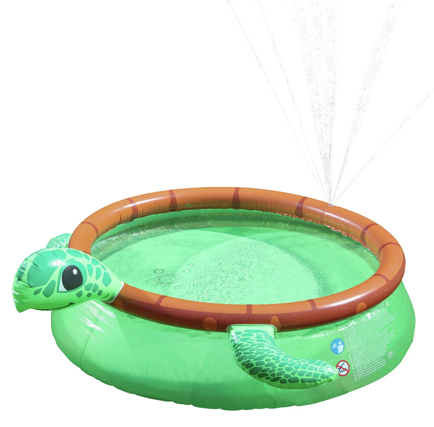 Chad Valley 6ft Turtle Quick Up Kids Paddling Pool - 757L