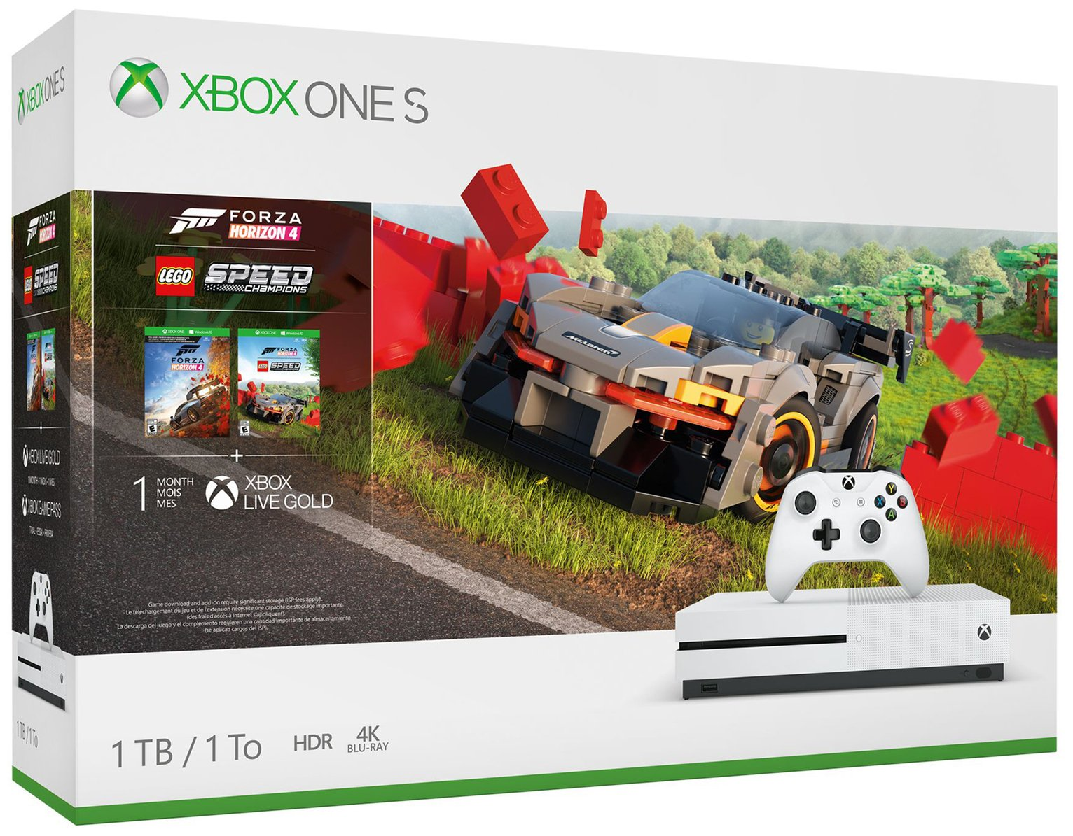 Xbox One S 1TB Console & Forza Horizon 4 LEGO Speed Bundle